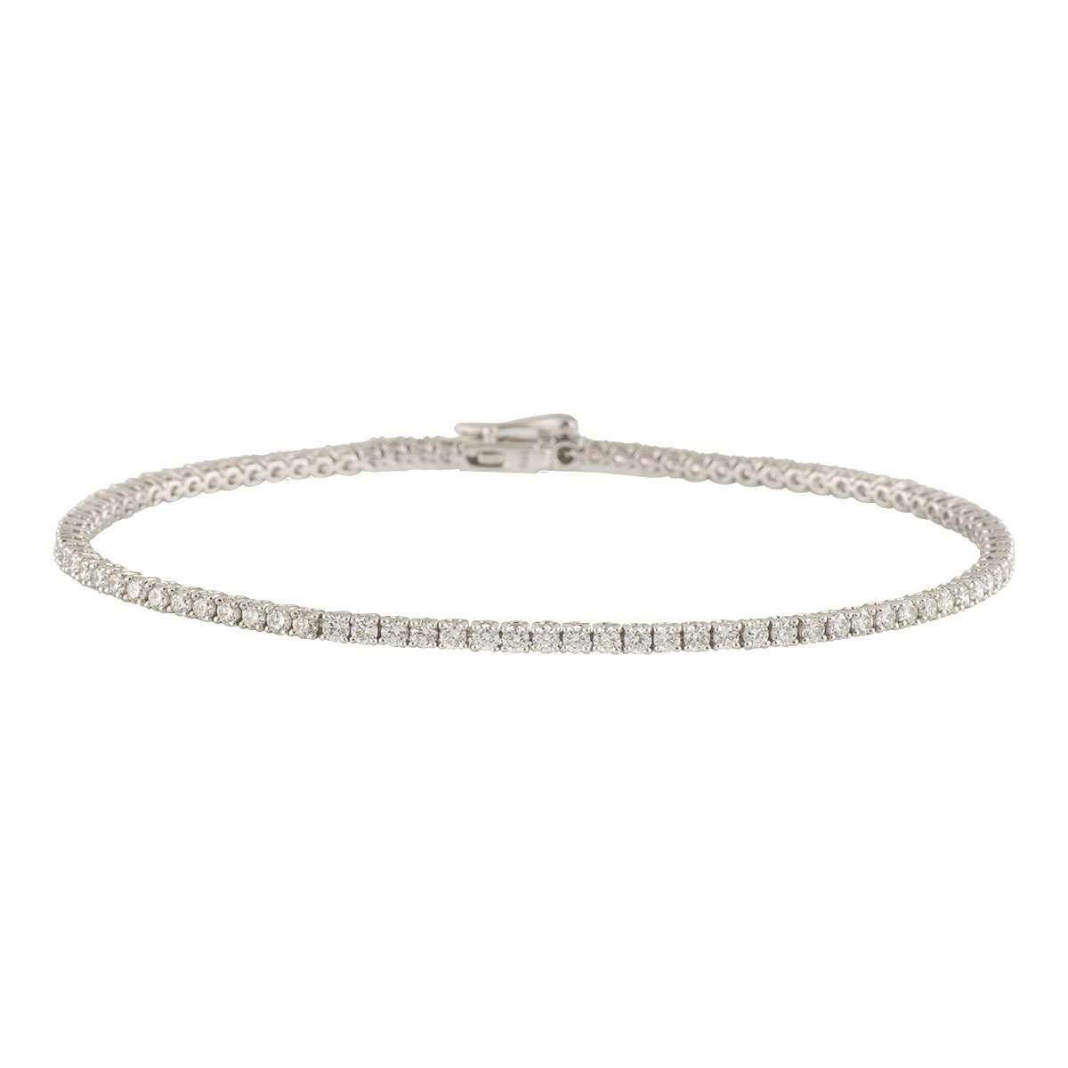 White Gold Diamond Line Bracelet 2.09ct